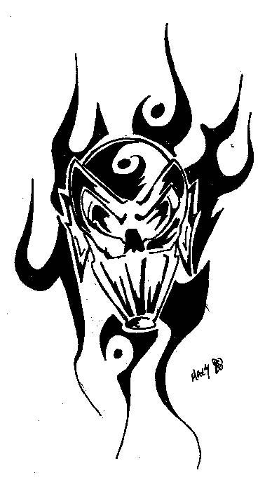 Wzory Tatuaży Czaszka Demon