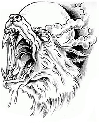 Tatuaże Psy Wilki 1157