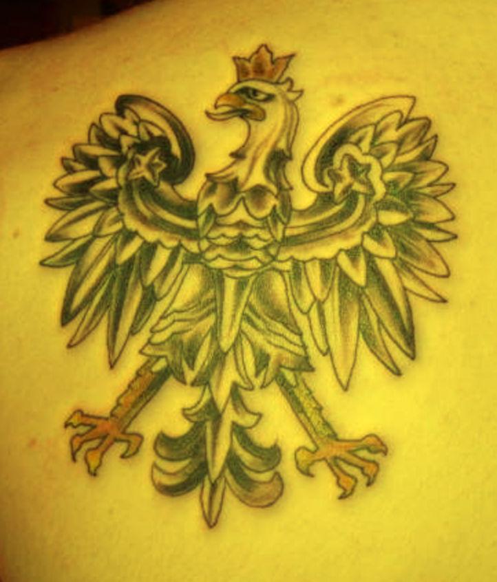 Polski Orzeł Tatuaż Na Plecach