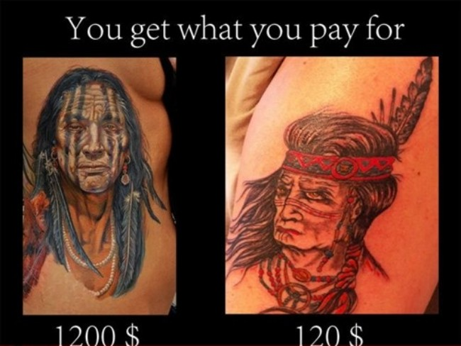 Price tattoo for Price of a tattoo