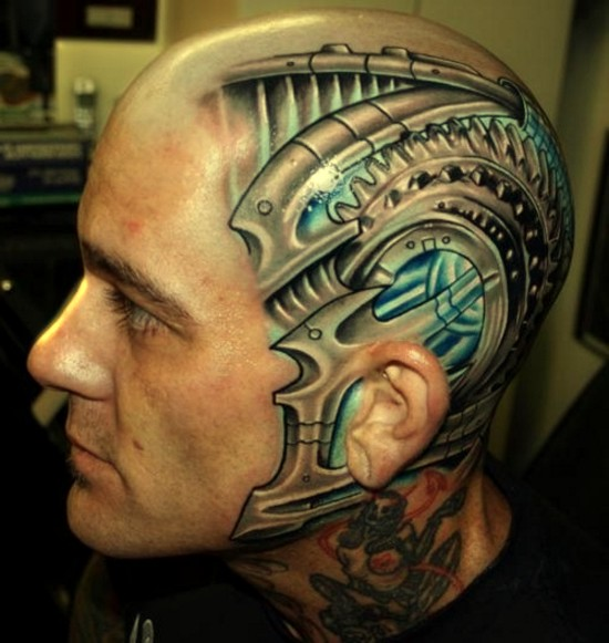 best extreme tattoo on his head