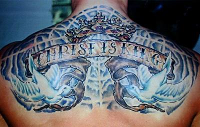 christ is king tattoo