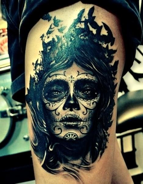 Tattoo santa muerte - Santa muerte tatouage signification ...
