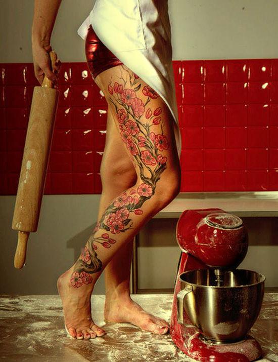 kwiaty, tatuaże wzory, tattoo