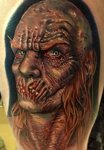 zombie, design tattoo