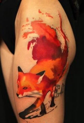fox, fox tattoo design,tattoo design