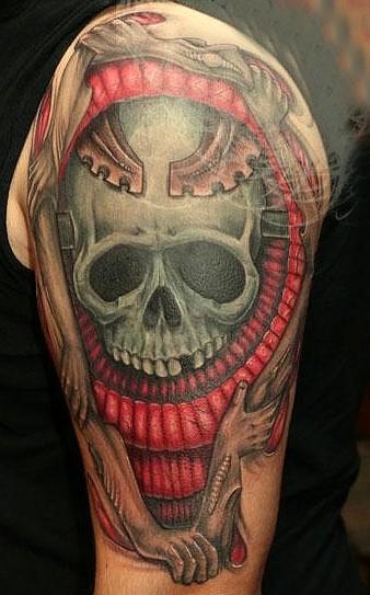 skulls, tattoos, skull tattoo