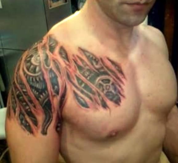 biomechaniczny, tatuaże biomechaniczne, tatuaże