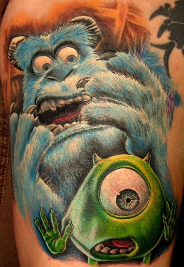 monster inc,tattoo, sully,mike