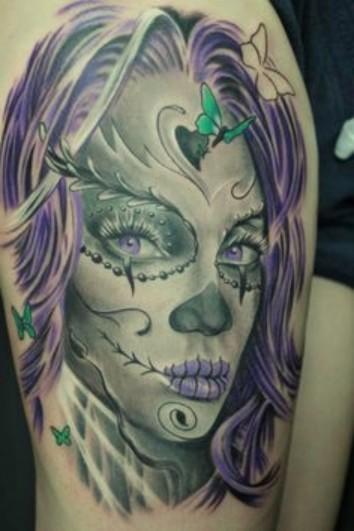 Amazing Santa Muerte Tattoo