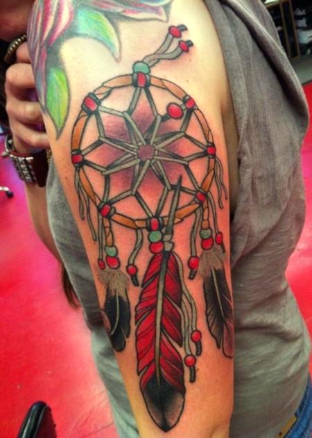 łapacz Snów Tatuaż Na Ramieniu