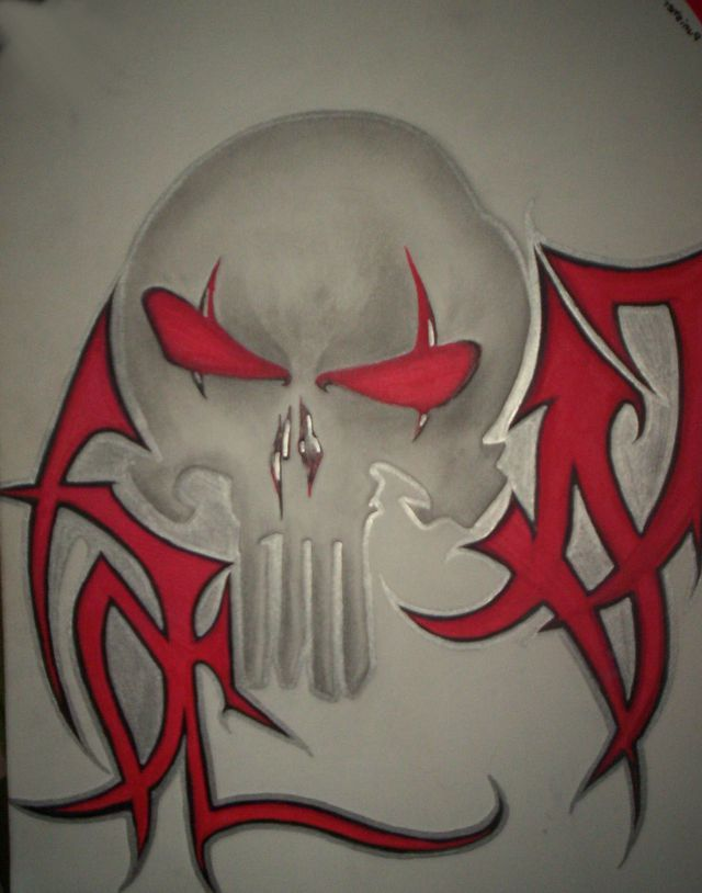 Punisher Tattoo Design