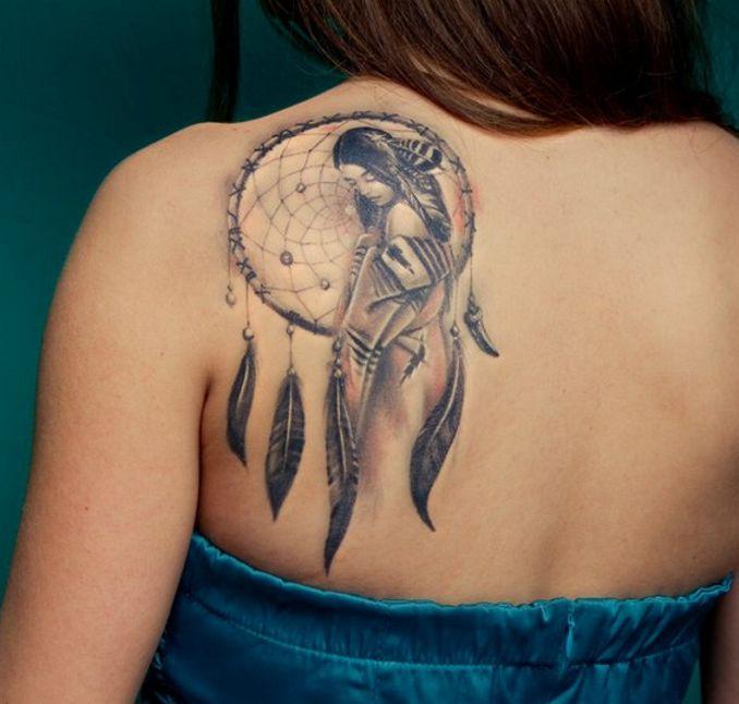 łapacz Snów Tatuaż Na łopatce