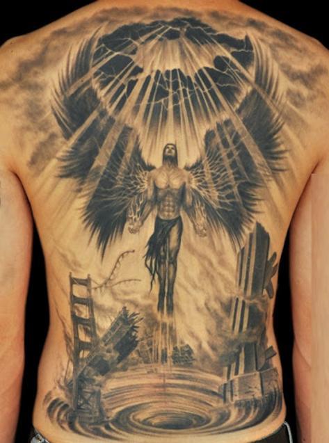 Tatuaże Anioły Na Plecy