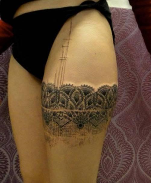 Wzór Tatuażu Podwiązka