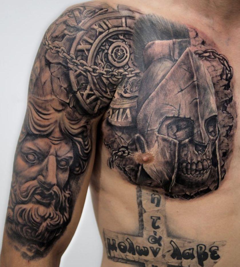 tatuaże wzory, czaszka