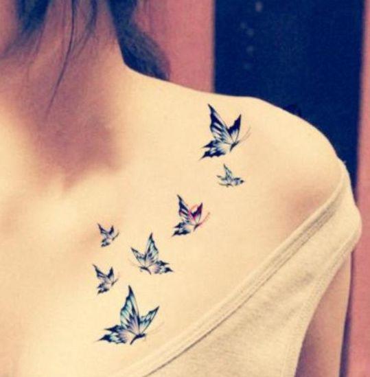 Motyle Tatuaże Na Obojczyku