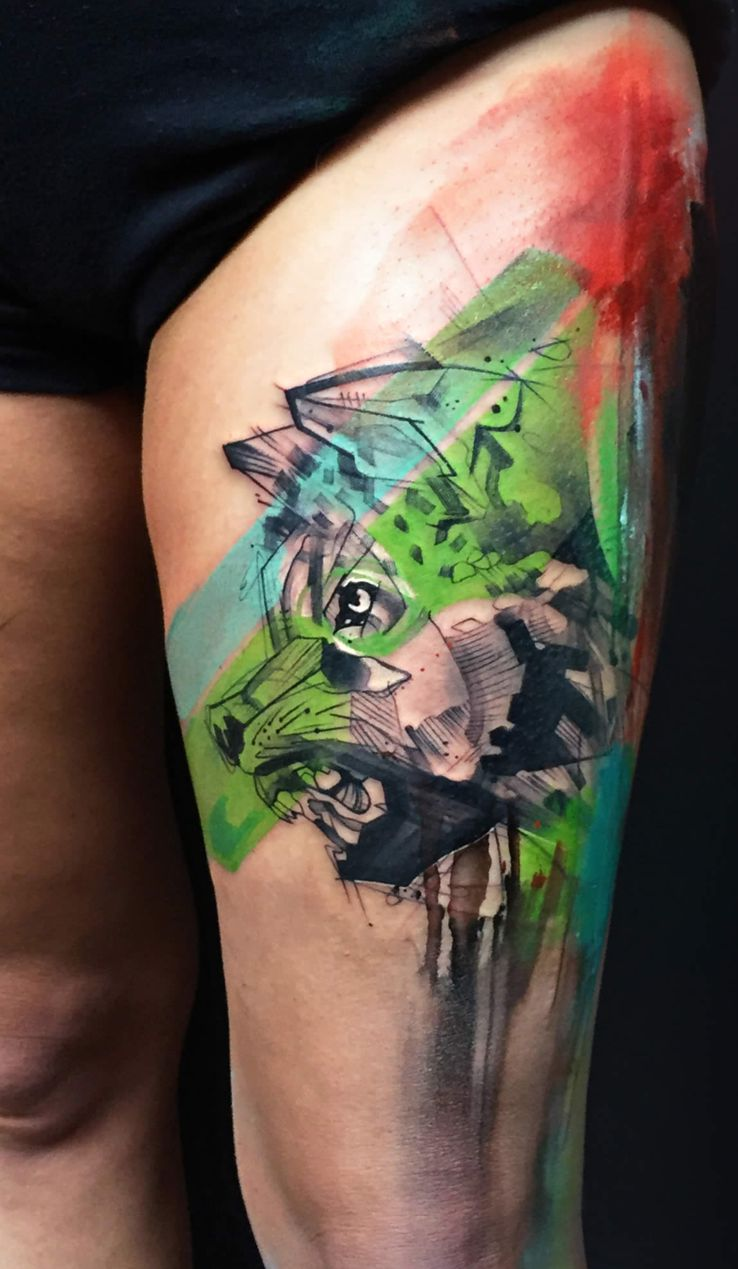 tattoo wolf image