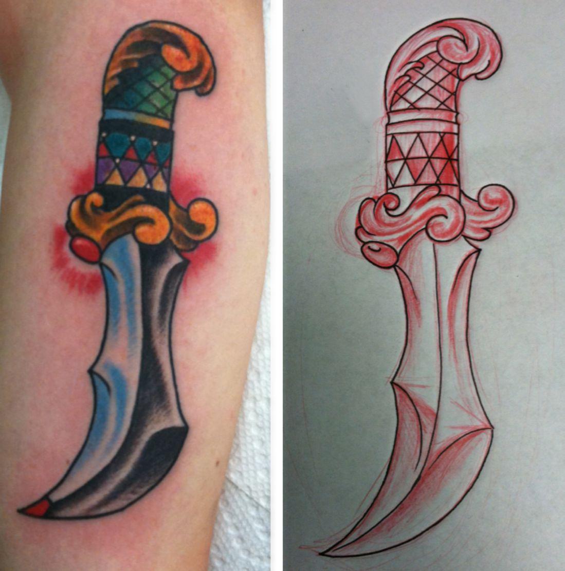 tattoo dagger design