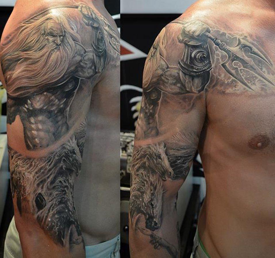 Poseidon amzing tattoo
