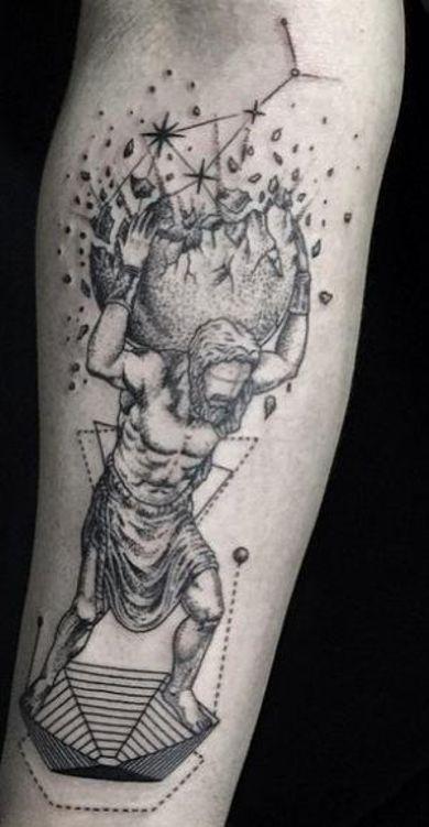 atlas mitologia tatuaż