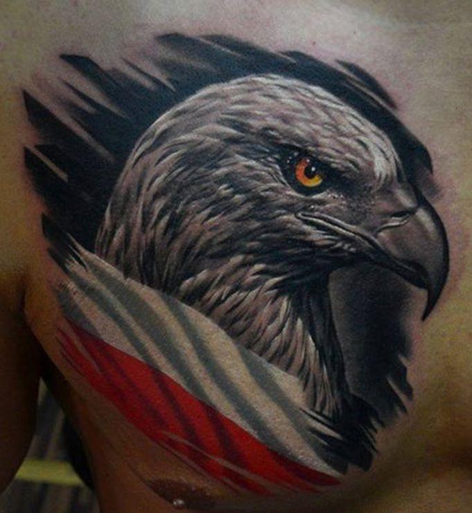 Orzeł Polski Tatuaż Patriotyczny