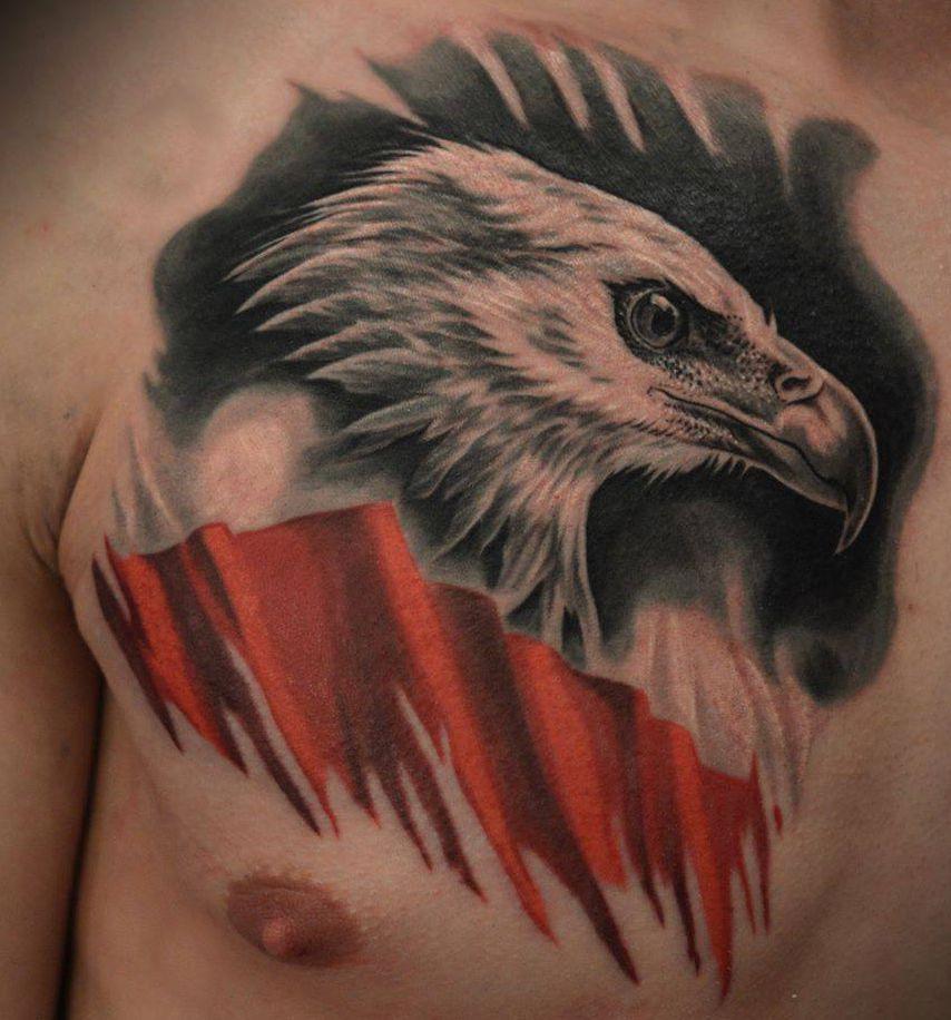 Tatuaże Patriotyczne Polskie Orzeł