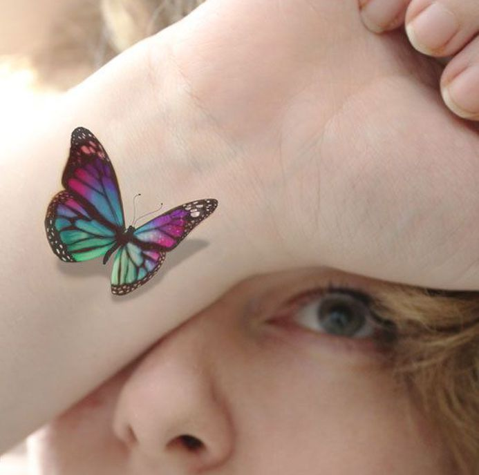 Wrist Butterfly Tattoo