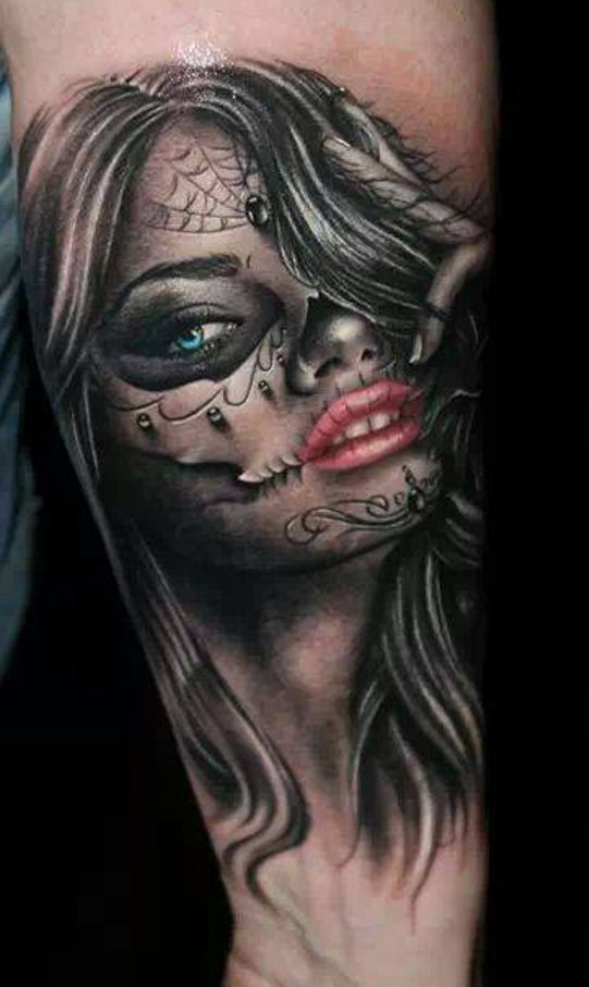 Santa Muerte Girl Tattoo