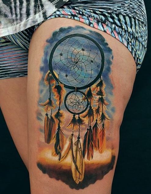 dreamcatcher for girls on leg
