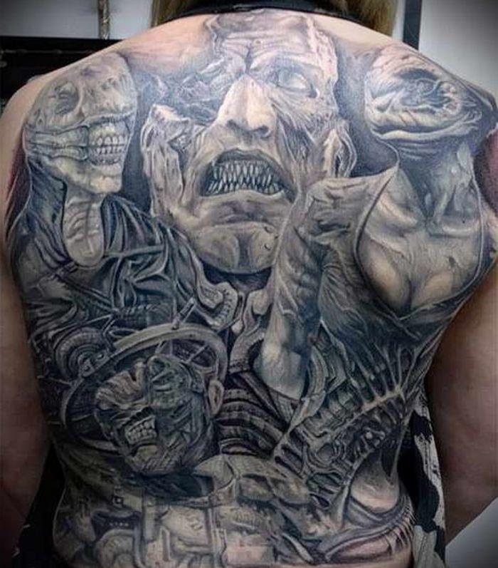 Duże Demony Tatuaże Na Plecach