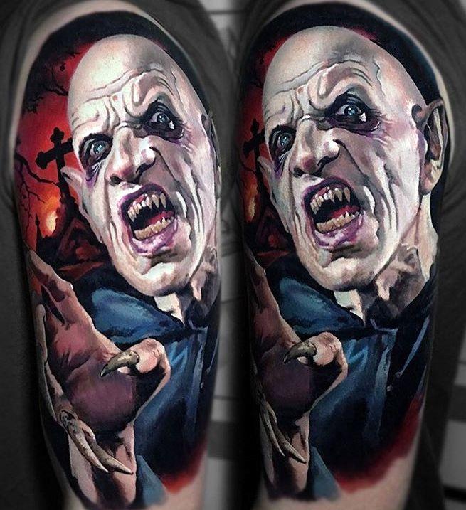 Horror Tattoo Nosferatu