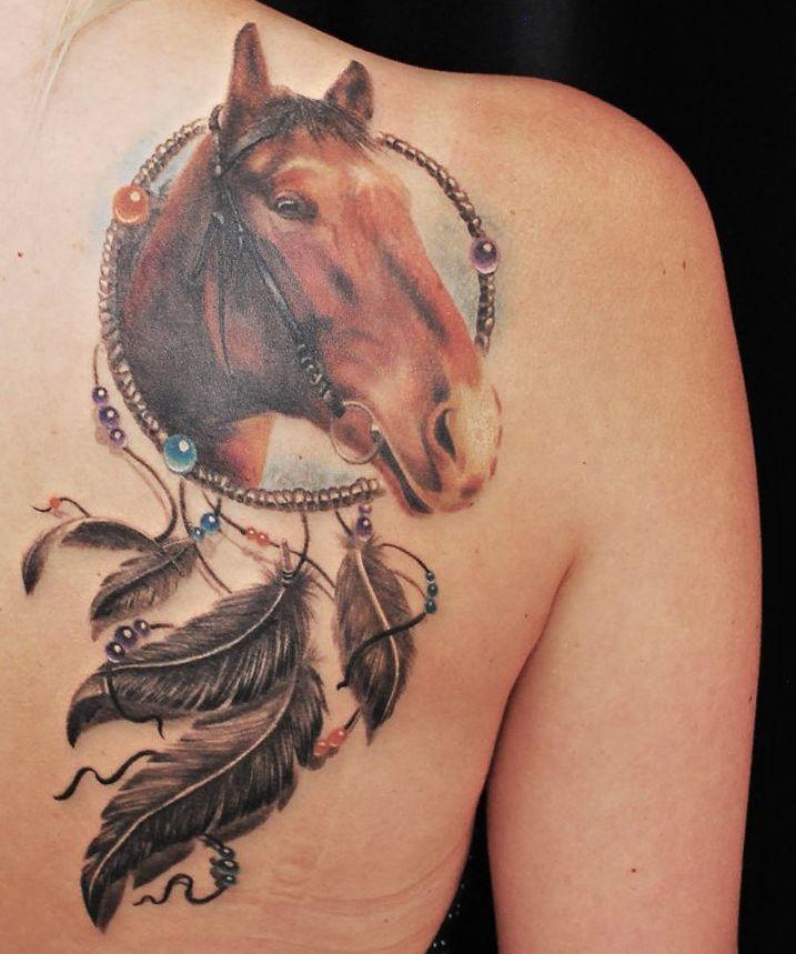 Koń łapacz Snów Tatuaż