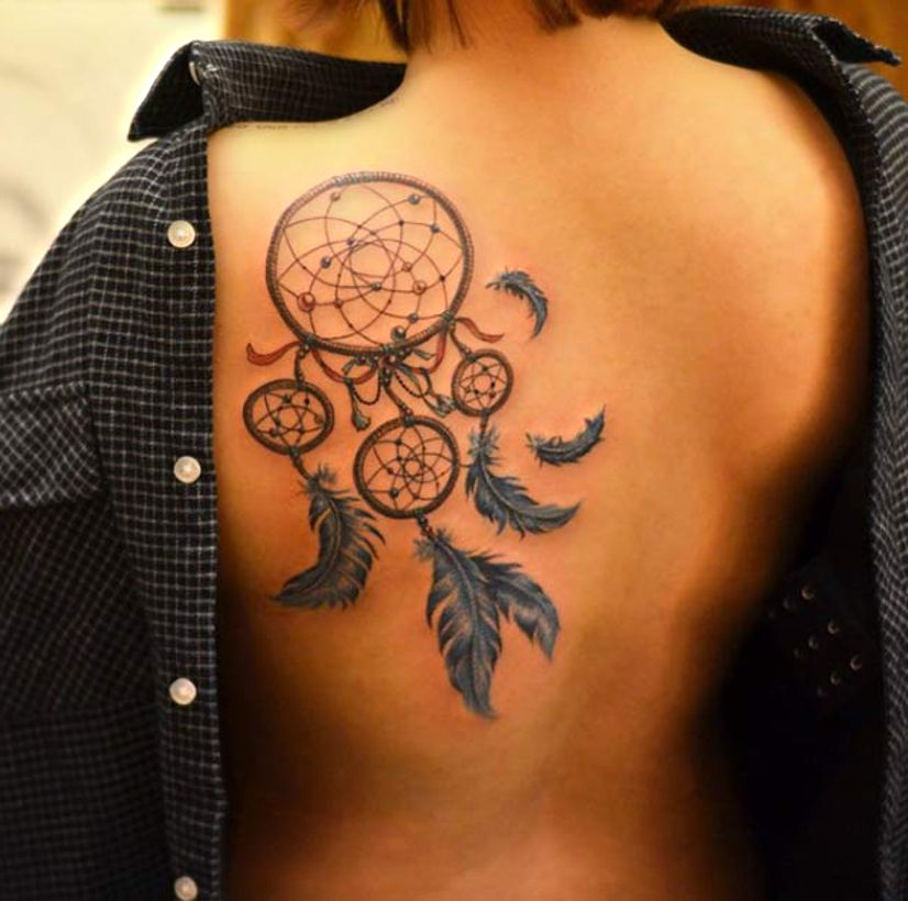 dreamcatcher tattoo for lady. Black Bedroom Furniture Sets. Home Design Ideas