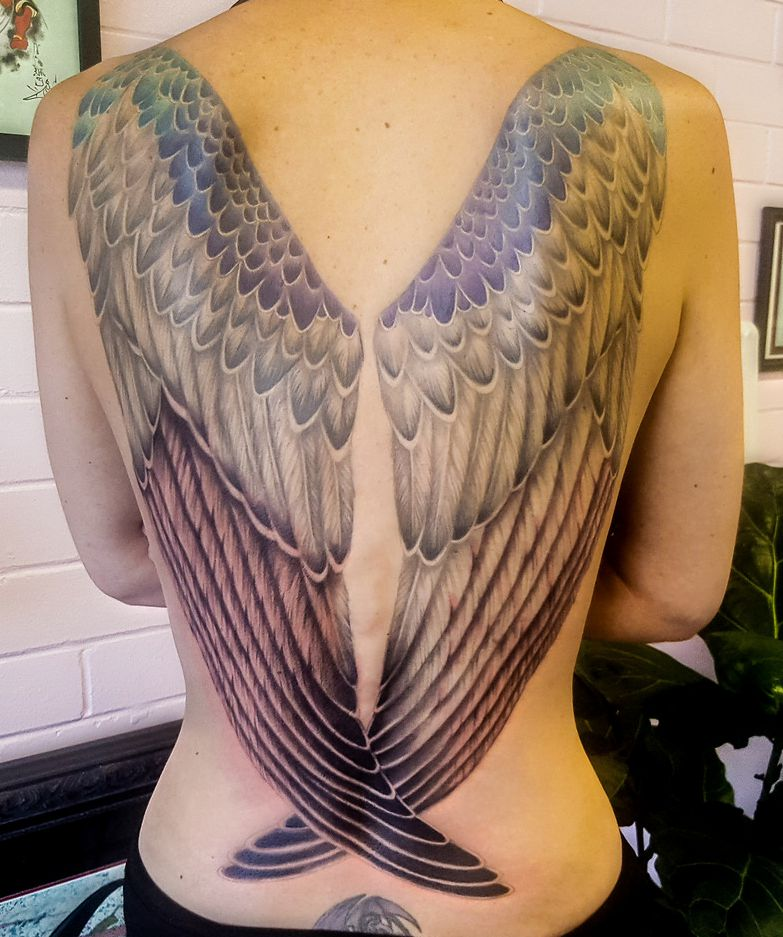 back tattoos - wings
