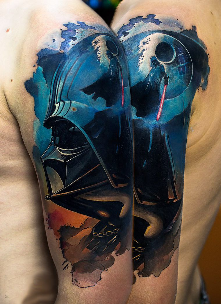 Lord Vader Tattoo On Arm