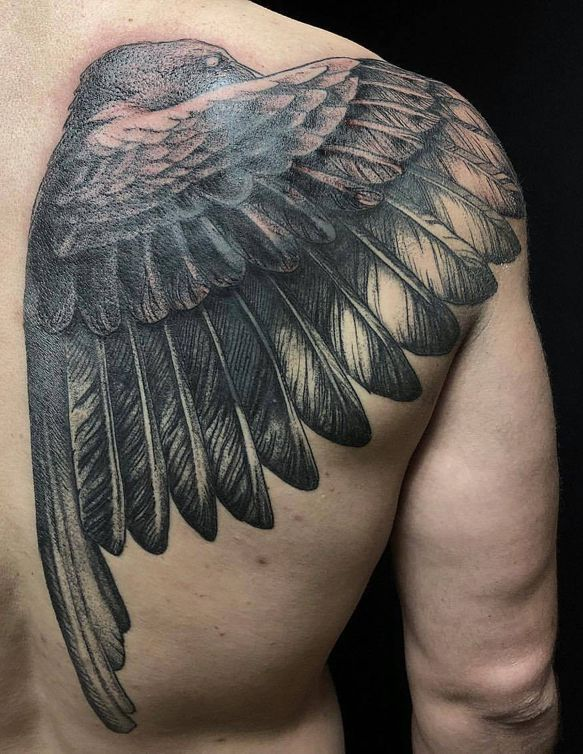 bird tattoo on back for me
