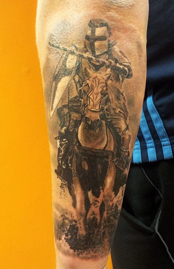 Knight Tattoo Forearm