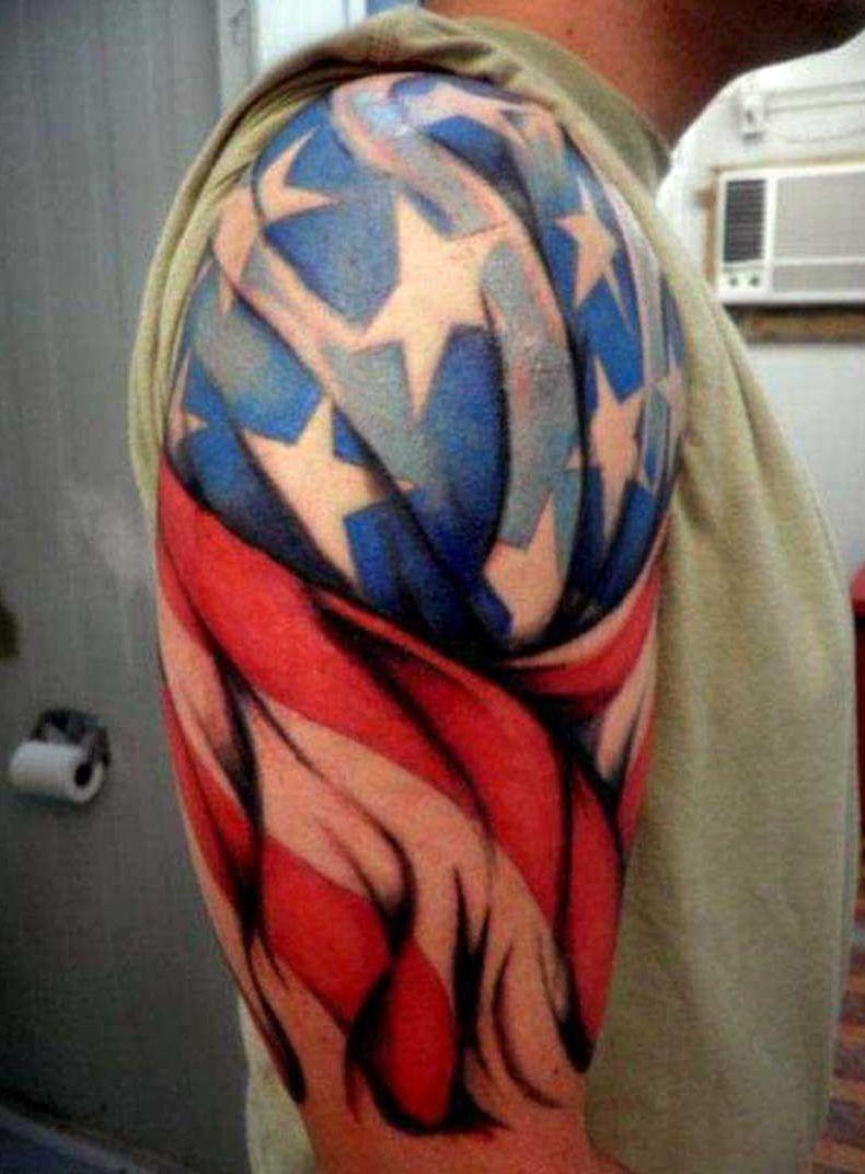 Flaga Usa Tatuaż Patriotyczny Blog Super Oli