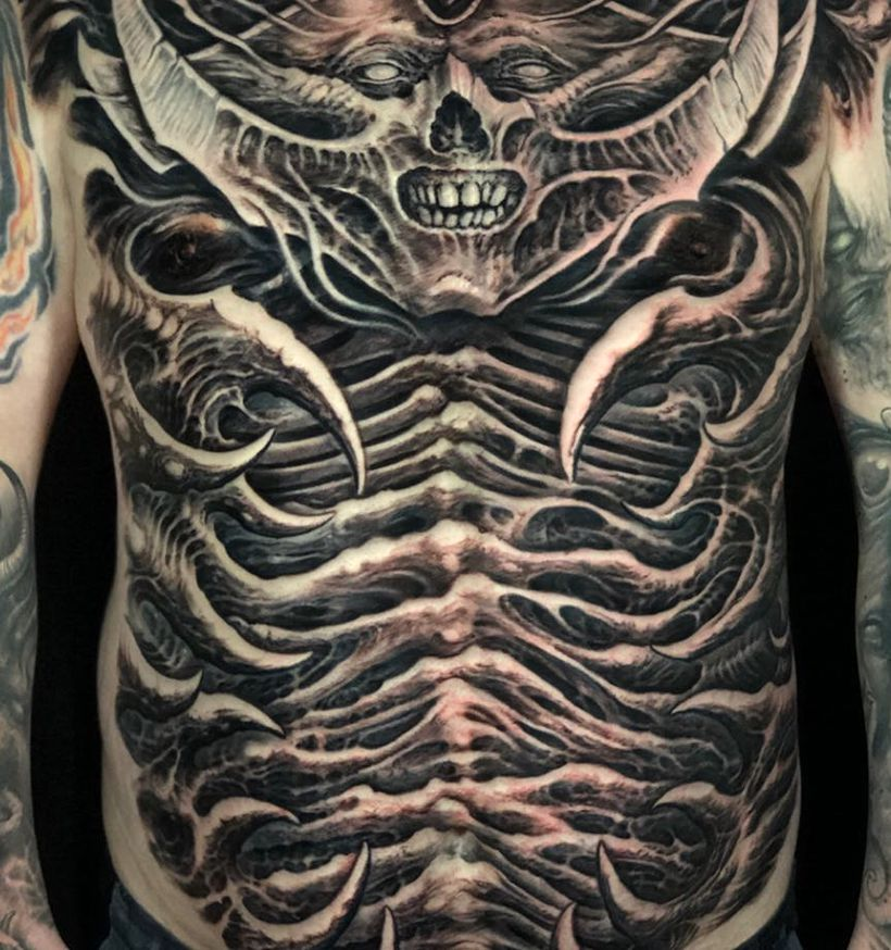 amazing and scary tattoo