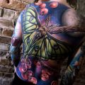 Moth back tattoo