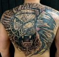 amazing lion | biomechanical tattoo