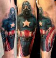 Captain America amazing tattoo