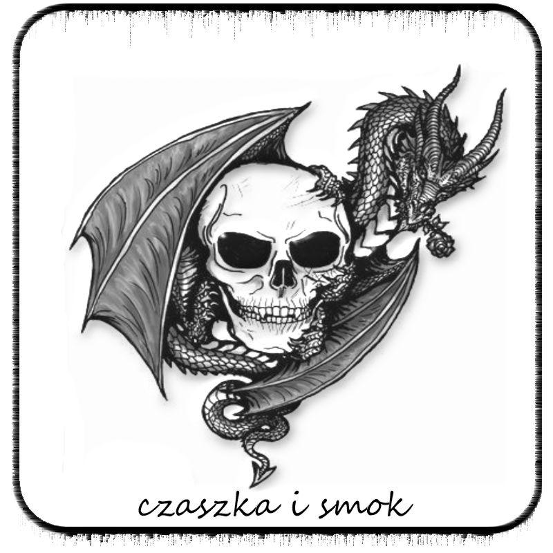 Czaszka I Smok Wzór Na Tatuaż