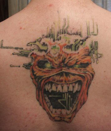 Iron Maiden back tattoo